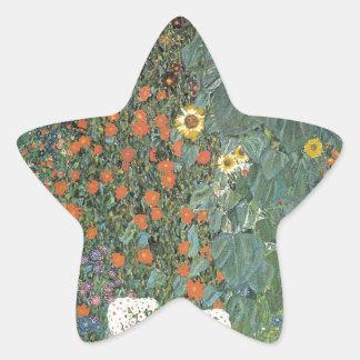 Adesivo Estrela Gustavo Klimt - flores dos girassóis do jardim do