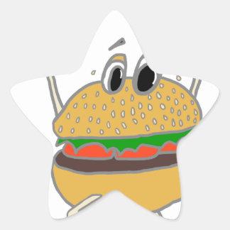 Adesivo Estrela hamburguer running