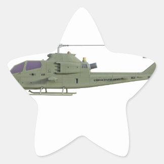 Adesivo Estrela Helicóptero de Apache no perfil da vista lateral