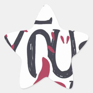 Adesivo Estrela Hey você eu te amo