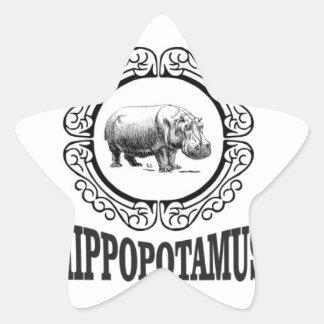 Adesivo Estrela Hipopótamo quadro