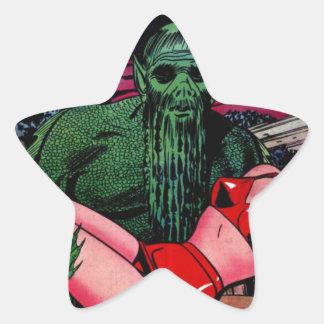 Adesivo Estrela Homem do pântano com barba