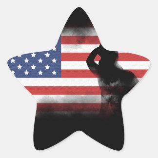 Adesivo Estrela Honre nossos heróis no Memorial Day