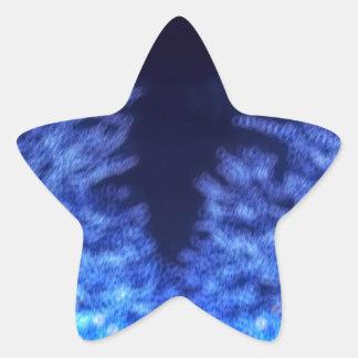 Adesivo Estrela Iluminação obscura do inverno