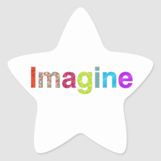 Adesivo Estrela Imagine o presente colorido da inspiração do