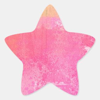 Adesivo Estrela Impressão da aguarela do Grunge da arte abstracta