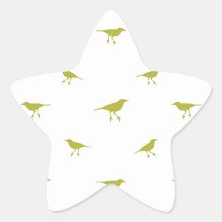 Adesivo Estrela Impressão da silhueta dos pássaros