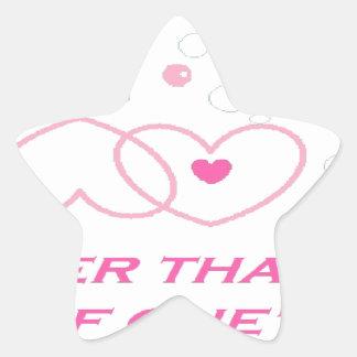Adesivo Estrela indicação mais verdadeira do amor