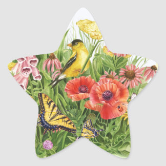 Adesivo Estrela Jardim do Goldfinch