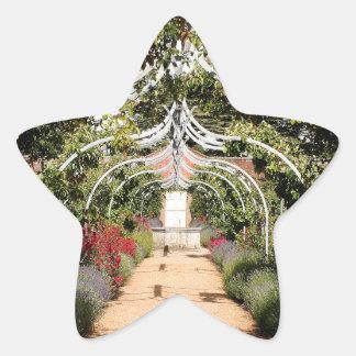 Adesivo Estrela Jardim inglês velho