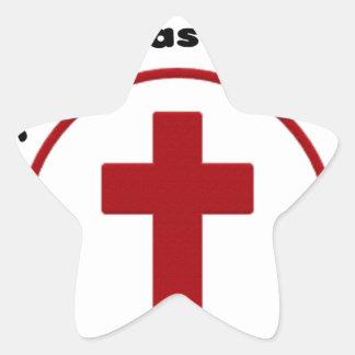 Adesivo Estrela jesus salvar, camisa cristã do presente t da