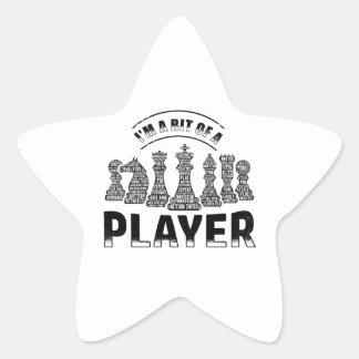 Adesivo Estrela Jogador de xadrez