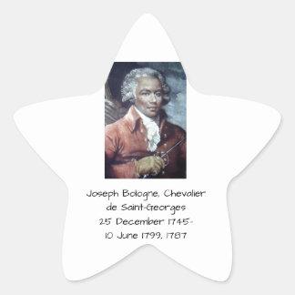 Adesivo Estrela Joseph Bologne, Cavaleiro de Santo-Georges