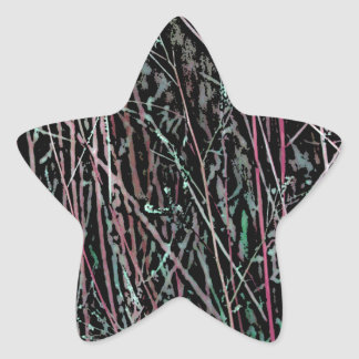 Adesivo Estrela Juncos multicoloridos no rosa e no verde