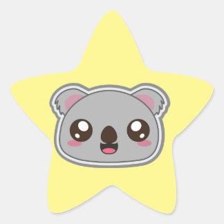 Adesivo Estrela Kawaii, o divertimento e o koala engraçado star a