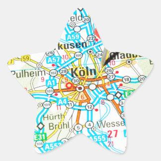Adesivo Estrela Köln, água de Colônia, Alemanha