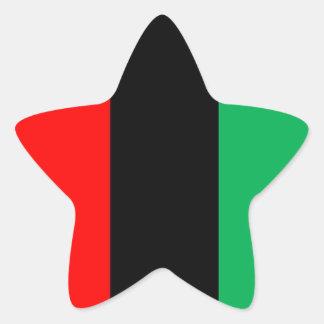 Adesivo Estrela Kwanzaa colore o teste padrão verde preto vermelho