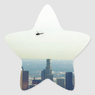 Adesivo Estrela LA e helicóptero