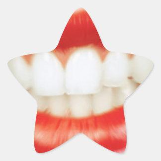 Adesivo Estrela Lábios vermelhos