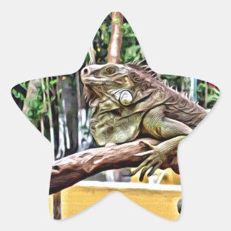 Adesivo Estrela Lagarto em um ramo