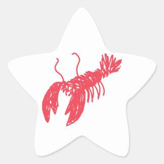 Adesivo Estrela Lagosta vermelha