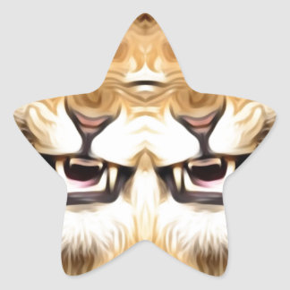 Adesivo Estrela Leão feliz Trippy