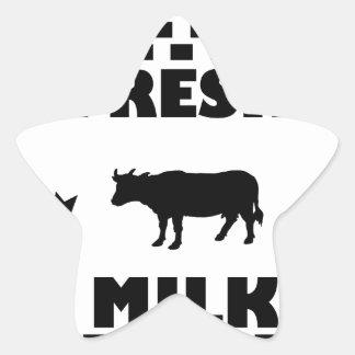 Adesivo Estrela Leite de vaca fresco da leiteria
