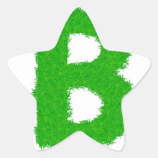 Adesivo Estrela letra da grama