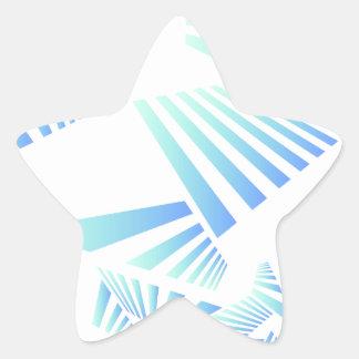 Adesivo Estrela linhas abstratas design
