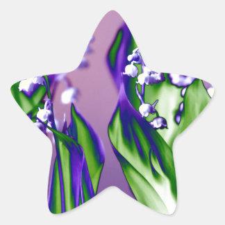 Adesivo Estrela Lírio do vale na lavanda
