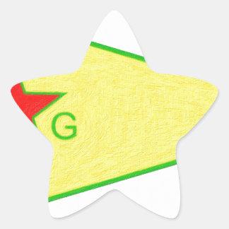 Adesivo Estrela logotipo 5 a do ypg