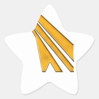 Adesivo Estrela logotipo do ouro