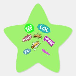 Adesivo Estrela Lol Argh e provérbios mais bonitos