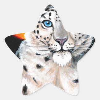 Adesivo Estrela Lua do leopardo de neve