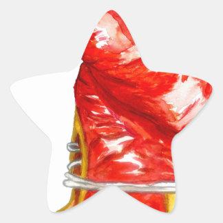 Adesivo Estrela Luva de encaixotamento vermelha