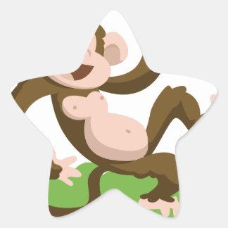 Adesivo Estrela macaco da dança
