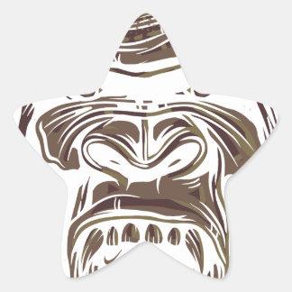 Adesivo Estrela macaco feio do vintage