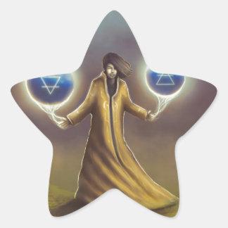 Adesivo Estrela mágica da fantasia do feiticeiro