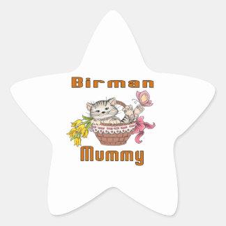 Adesivo Estrela Mamã do gato de Birman