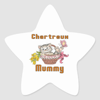 Adesivo Estrela Mamã do gato de Chartreux