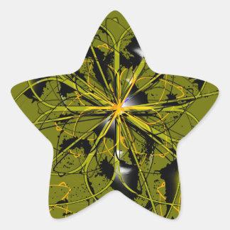 Adesivo Estrela Manchas douradas do abstrato das pétalas