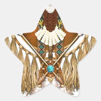 Adesivo Estrela Mandala da águia americana - revisada