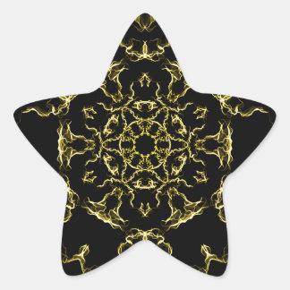 Adesivo Estrela Mandala da iluminação