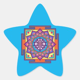 Adesivo Estrela Mandala de Sri Yantra