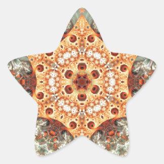 Adesivo Estrela Mandalas do coração da liberdade 24 presentes