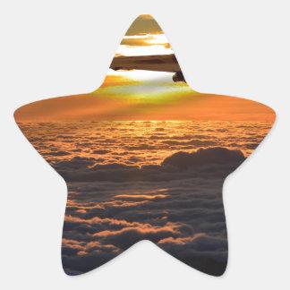 Adesivo Estrela Manobra do por do sol do bombardeiro de Vulcan