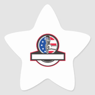 Adesivo Estrela Mão do canalizador que guardara o círculo Banne da