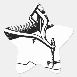 Adesivo Estrela Mão que repara o dispositivo velho