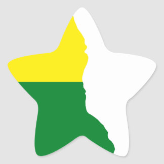 Adesivo Estrela Mapa da bandeira de Delaware LGBT