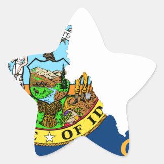 Adesivo Estrela Mapa da bandeira de Idaho
